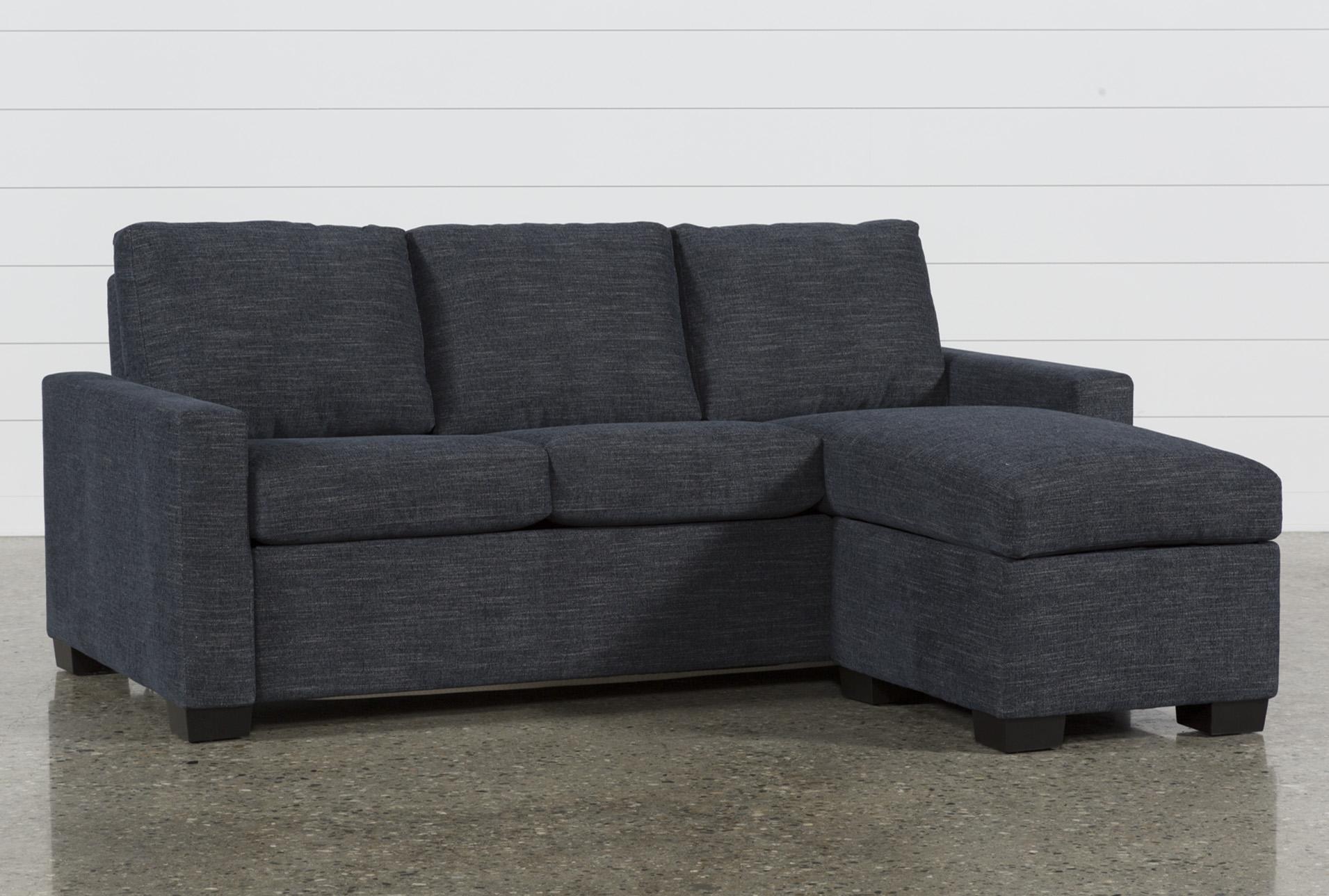 Mackenzie Denim Queen Plus Sofa Sleeper W Storage Chaise