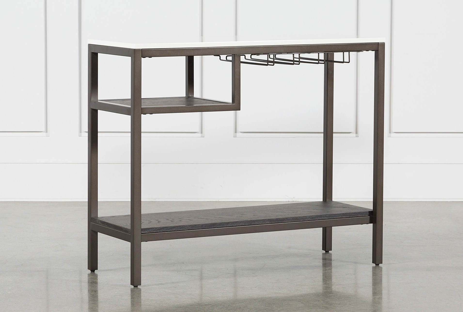 rustic gray sofa table plummers leather bale grey living spaces