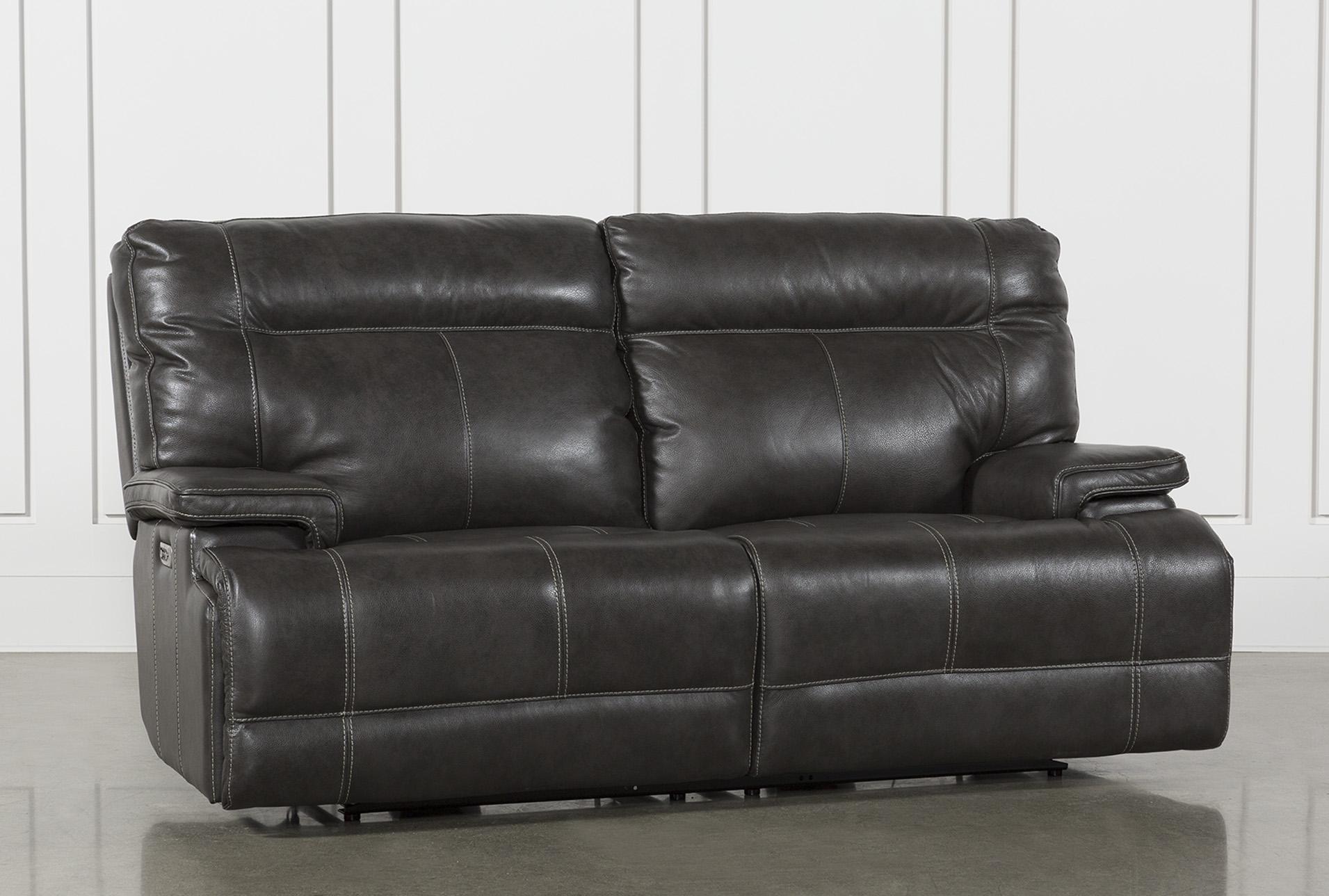 grey power reclining sofa gray images marius dark with headrest