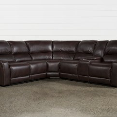 Pictures Of Living Rooms With Brown Sectionals The Room Church Sectional Sofas Spaces Declan 3 Piece Power Reclining Right Facing Console Loveseat