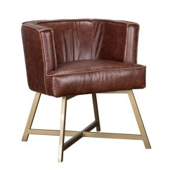 Brown Leather Sofa Accent Chair Ashley Furniture Darcy Reviews Raw Edge Living Spaces