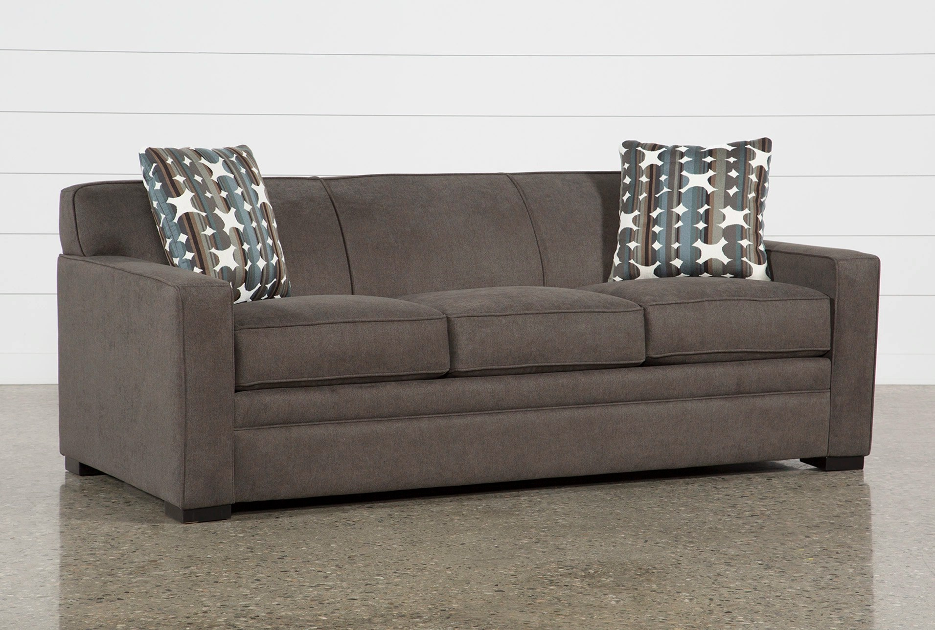 foam sofa sleeper italian sectional sofas ethan ii memory queen living spaces qty 1 has been successfully added to your cart