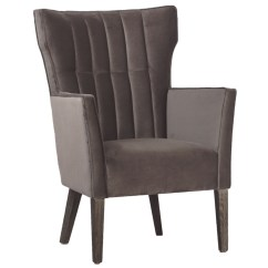 Living Spaces Accent Chairs Pedro Friedeberg Hand Chair Casual Small Space For Your Home And Office Wing Back Grey Velvet