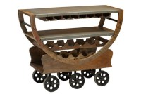 Wine Cart On Wheels | Living Spaces