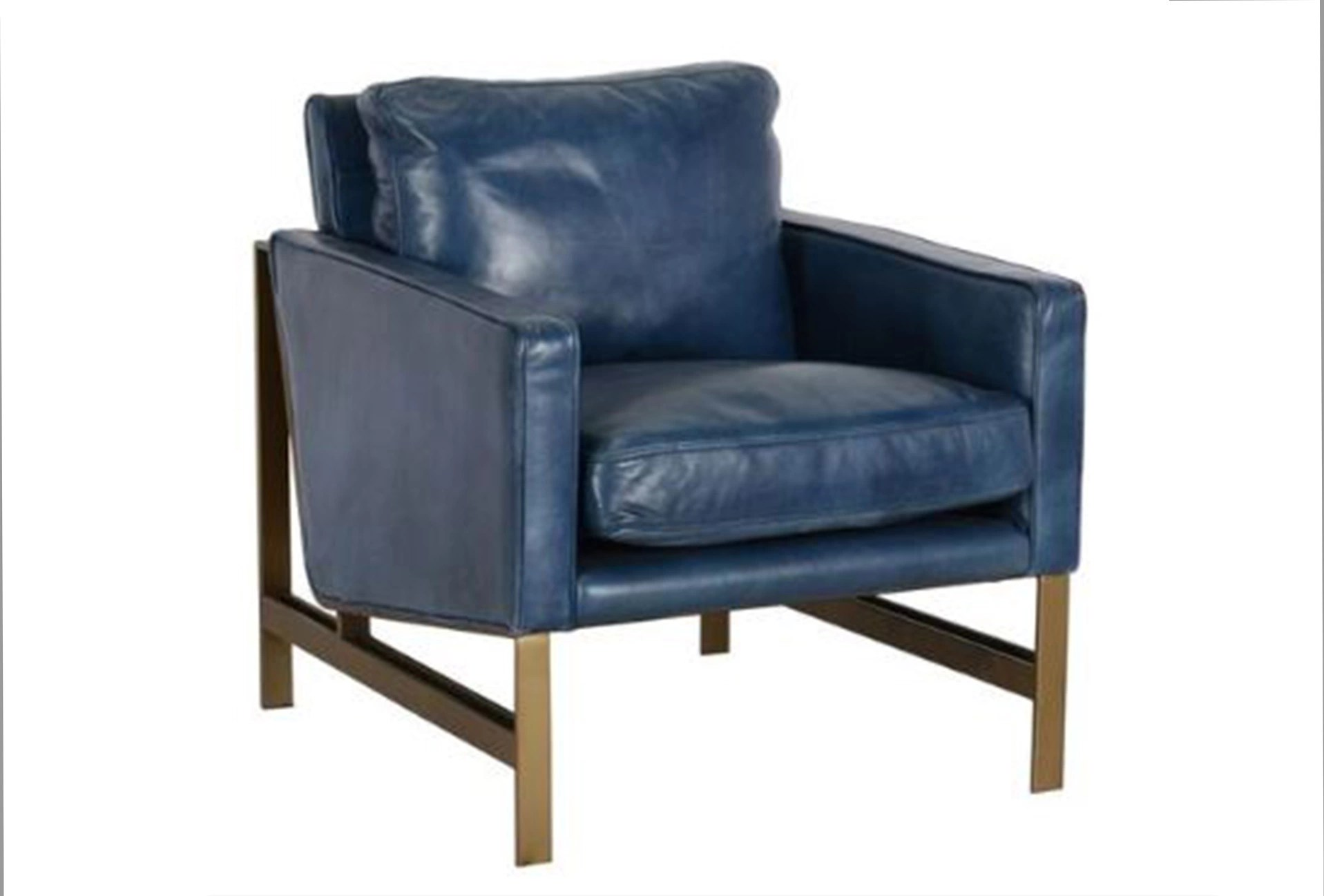 club chairs for small spaces patio bar blue leather chair living
