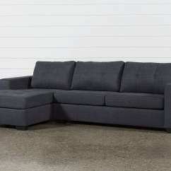 Modern Sleeper Sofa Under 1000 Blue Grey Bed Remington Charcoal 2 Piece Sectional W Left Facing