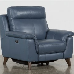 Recliner Chair Leather Pewter Chairs For Your Home Office Living Spaces Moana Blue Power Reclining With Usb