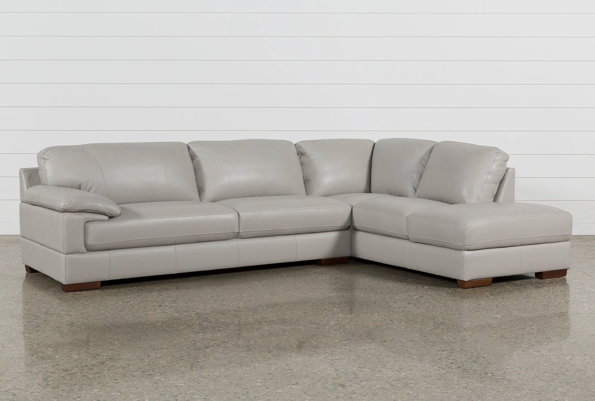 pictures of living rooms with grey sectionals curtain sets room 100 leather sectional sofas spaces nico light right facing storage chaise