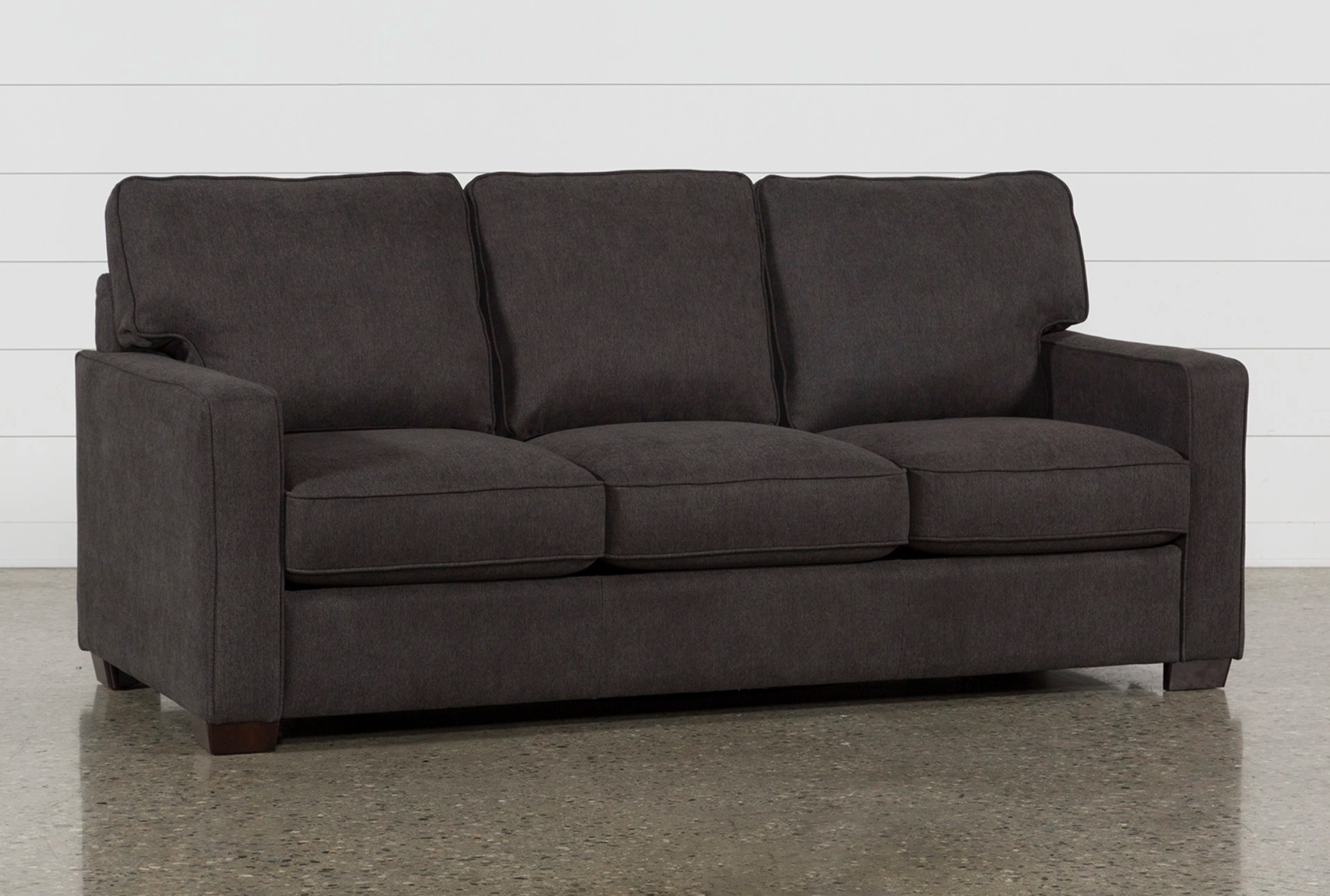 loft charcoal sofa bed kensington luxury multi storage morris queen sleeper living spaces