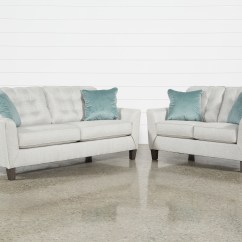 2 Piece Living Room Furniture White Sideboards For Sets Spaces Shelton Set With Queen Sleeper