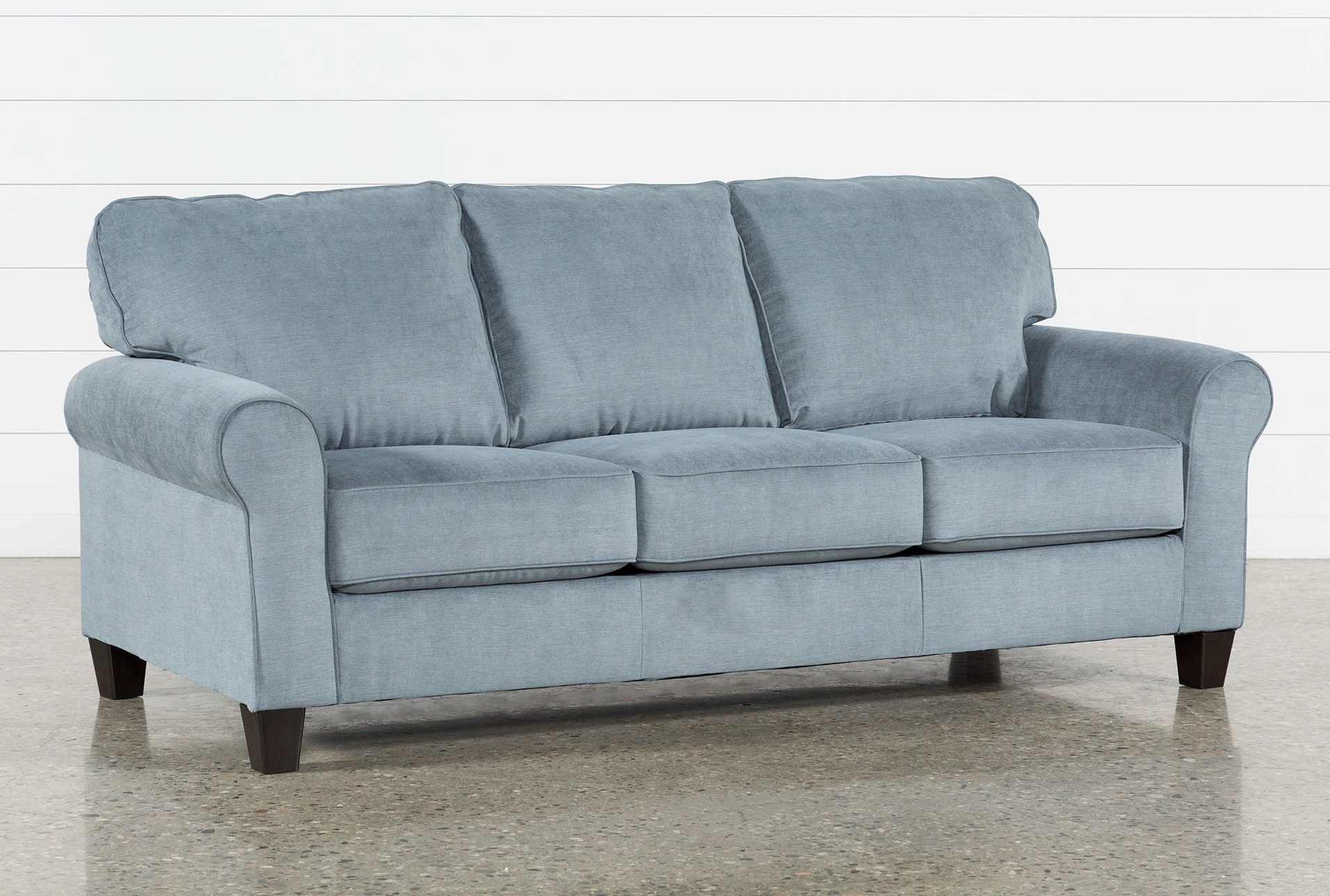 outlet sofas sleeper reviews fabric couches free assembly with delivery living neah sofa