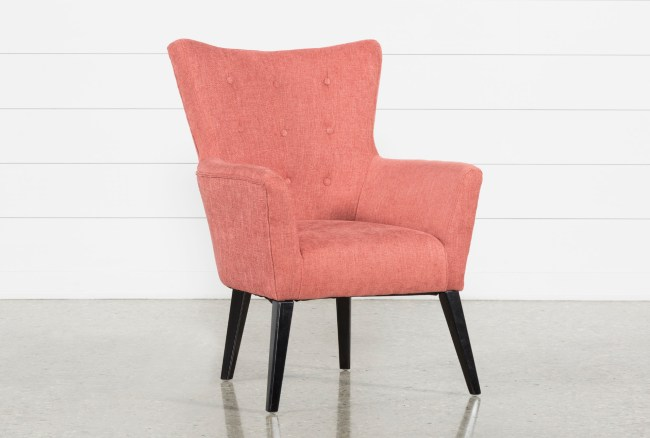 Kelsey Coral Accent Chair  Living Spaces