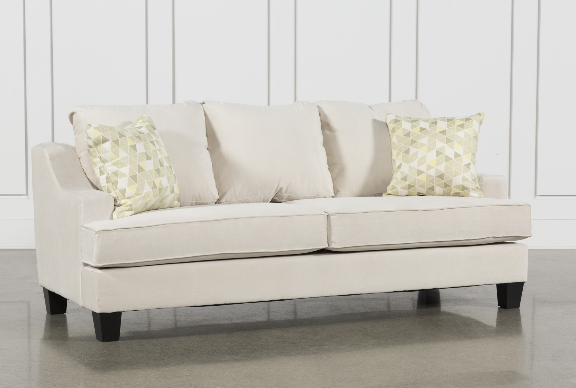 easy to clean sofa material are crate and barrel sofas good quality fabric couches free assembly with delivery living spaces raina 395