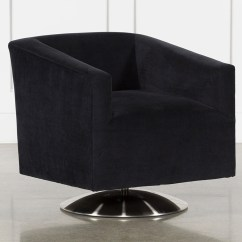 Clara Chair Crate And Barrel Crown Royal For Sale Black Swivel Accent Droughtrelief Org