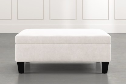 perch white large square storage ottoman