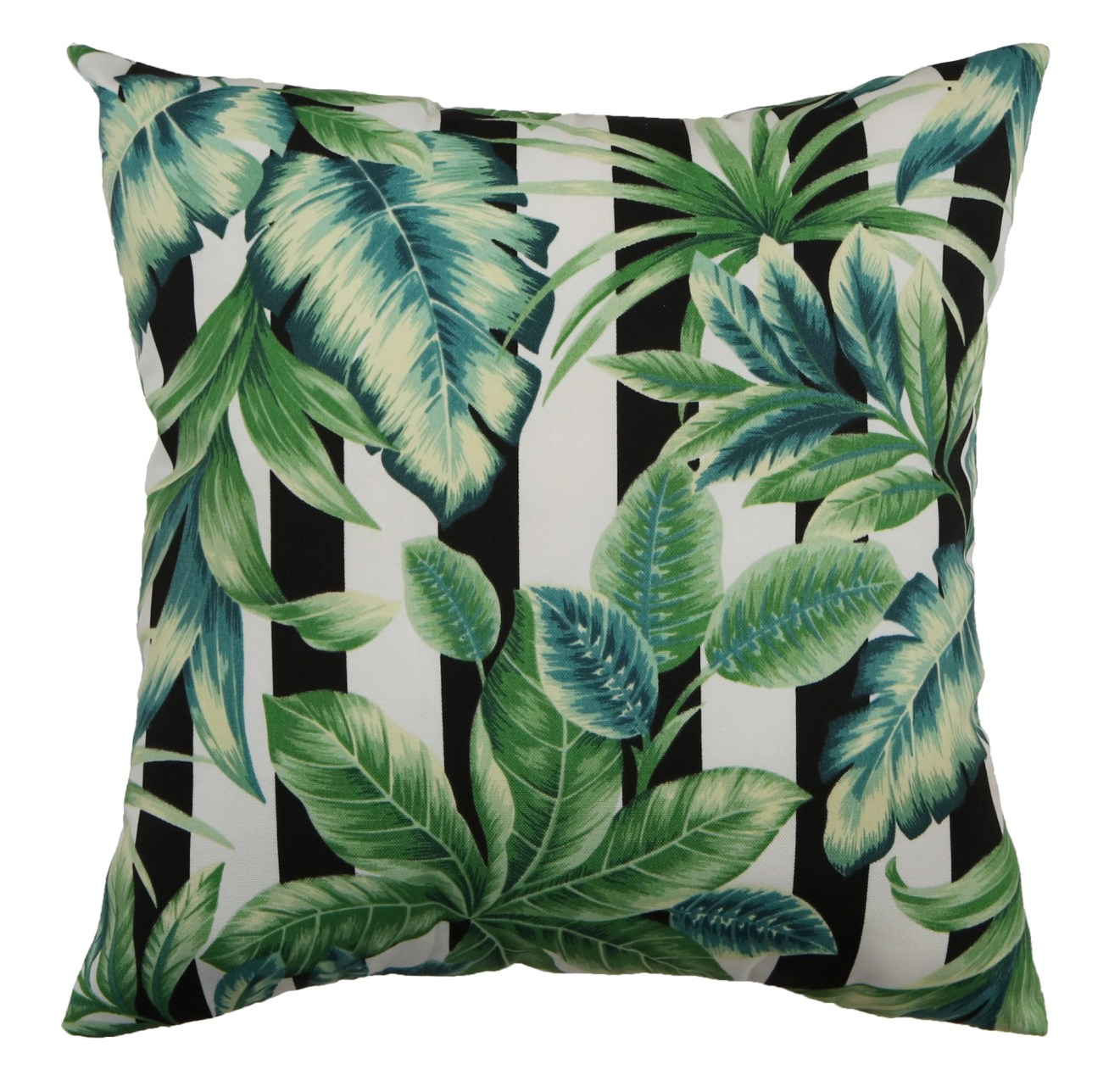 Outdoor Accent Pillow-palm Cabana Stripe 18x18 Living Spaces