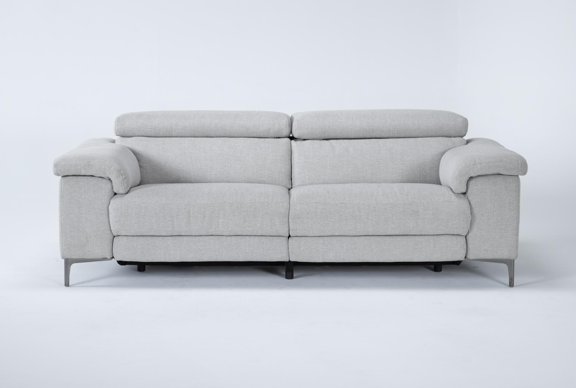 talin linen 85 power reclining sofa with usb