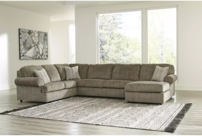 hoylake chocolate 3 piece 143 sectional with right arm facing chaise