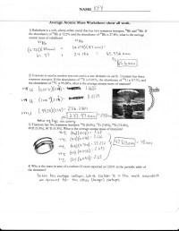Average Atomic Mass Worksheet Free Worksheets Library ...