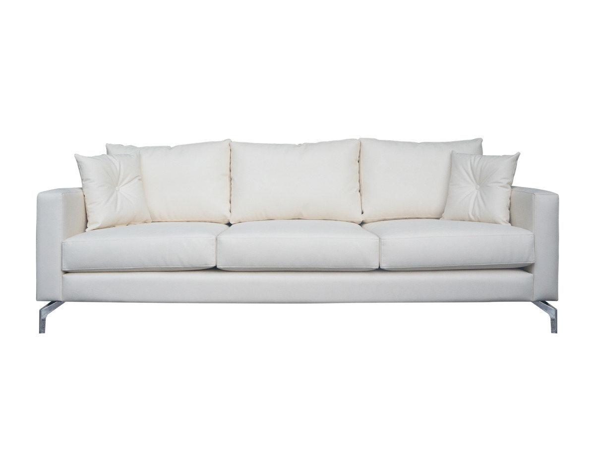 spartan sofa scs leather sofas reviews sofá nórdico en cuero sintético esparta color marfil