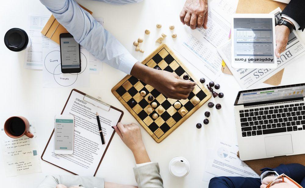 estrategia, reunião, marketing