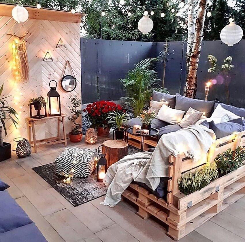 bohemian outdoor furniture and diy