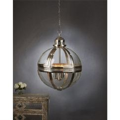 Sofa Waterproof Cover Brands Made In Canada Saxon Large Metal And Glass Globe Pendant Light - Nickel