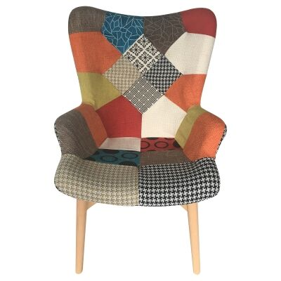 tub fabric accent chair patchwork to bed occasional chairs designer for sale dalbert armchair multi