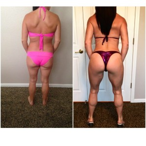 Gina J back comparison