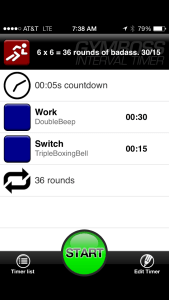 Your gym boss timer set-up