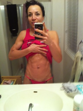 diane 3 weeks out abs