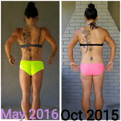 Rach before and after back shot