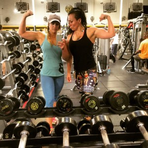 diane-and-camy-flexing
