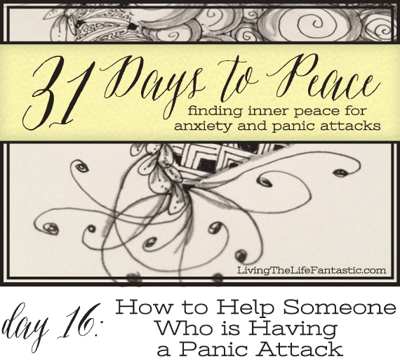 how to help someone who is having a panic attack