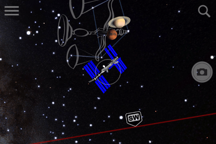 NASA ISS flying overhead