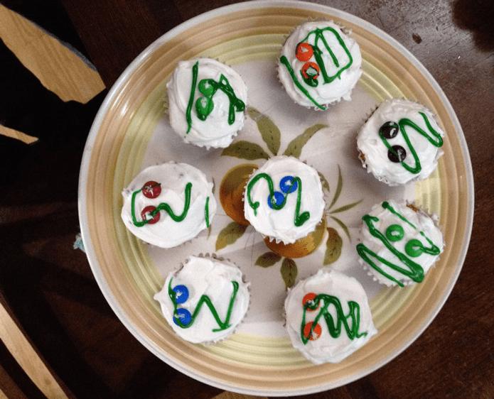 zombie coconut flour almond flour cupcakes
