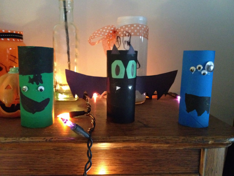 Toilet paper roll halloween crafts