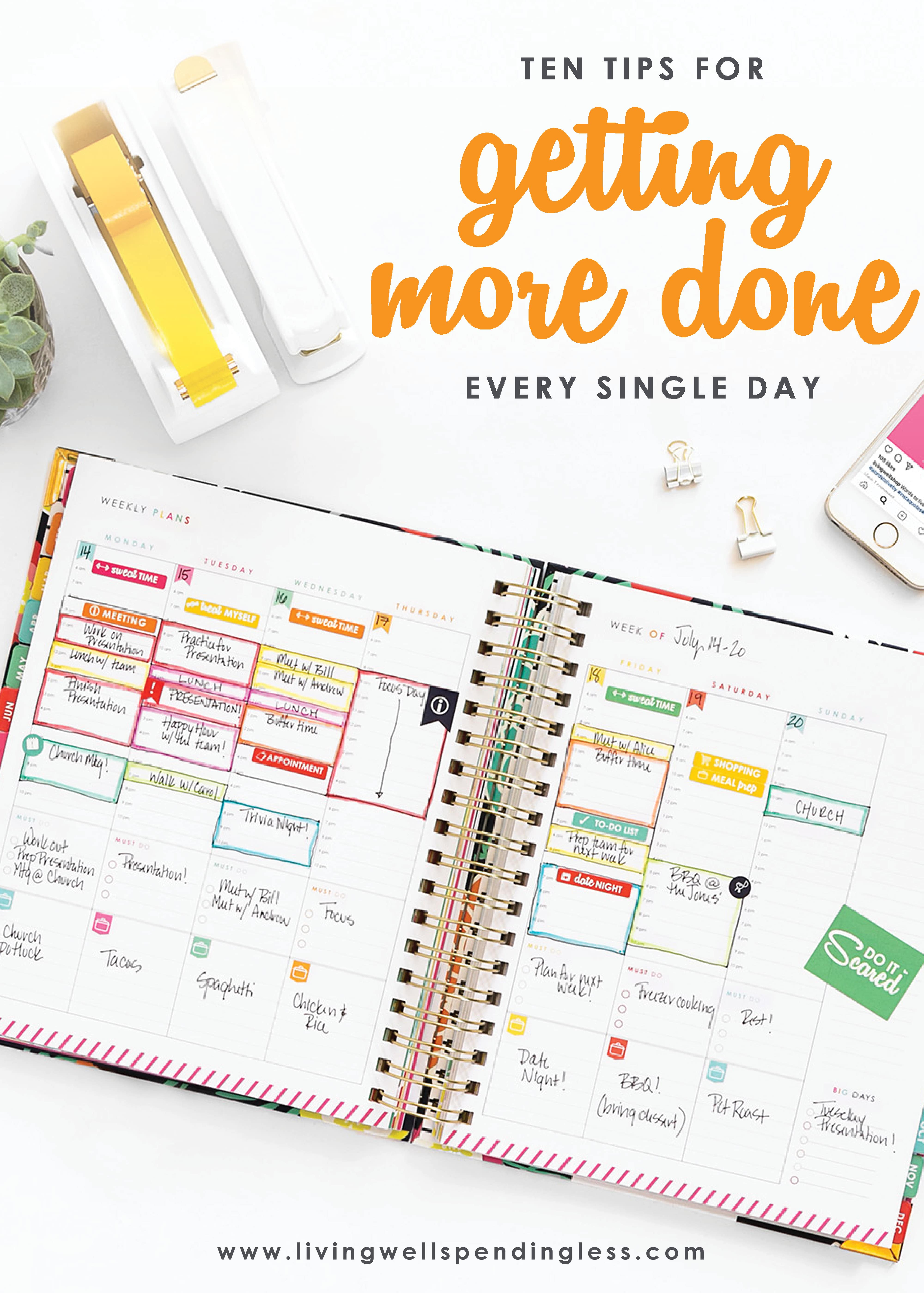 10 Tips For Getting More Done Each Day