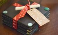 DIY Chalkboard Coasters | Easy Handmade Gift Idea | Living ...