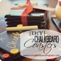 DIY Chalkboard Coaster Set - Living Well Spending Less