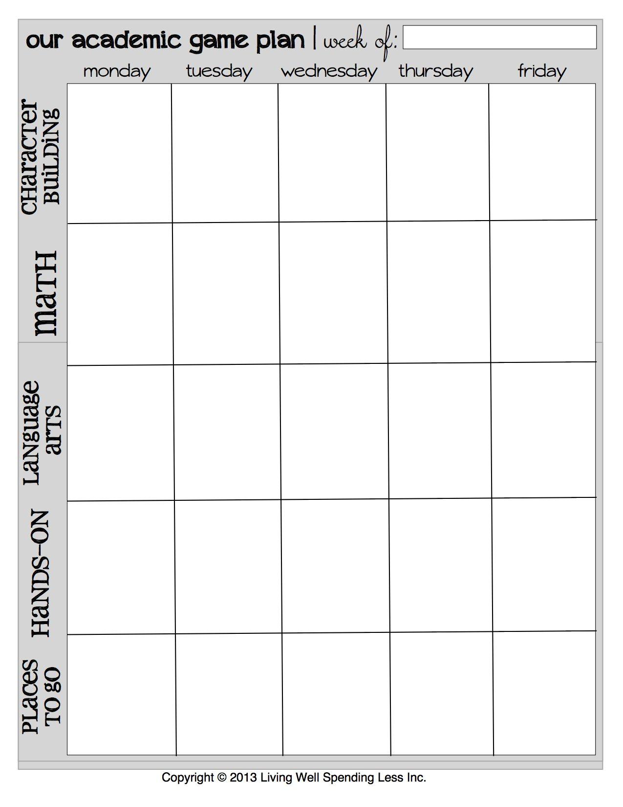 Daily Planner Schedule Worksheet