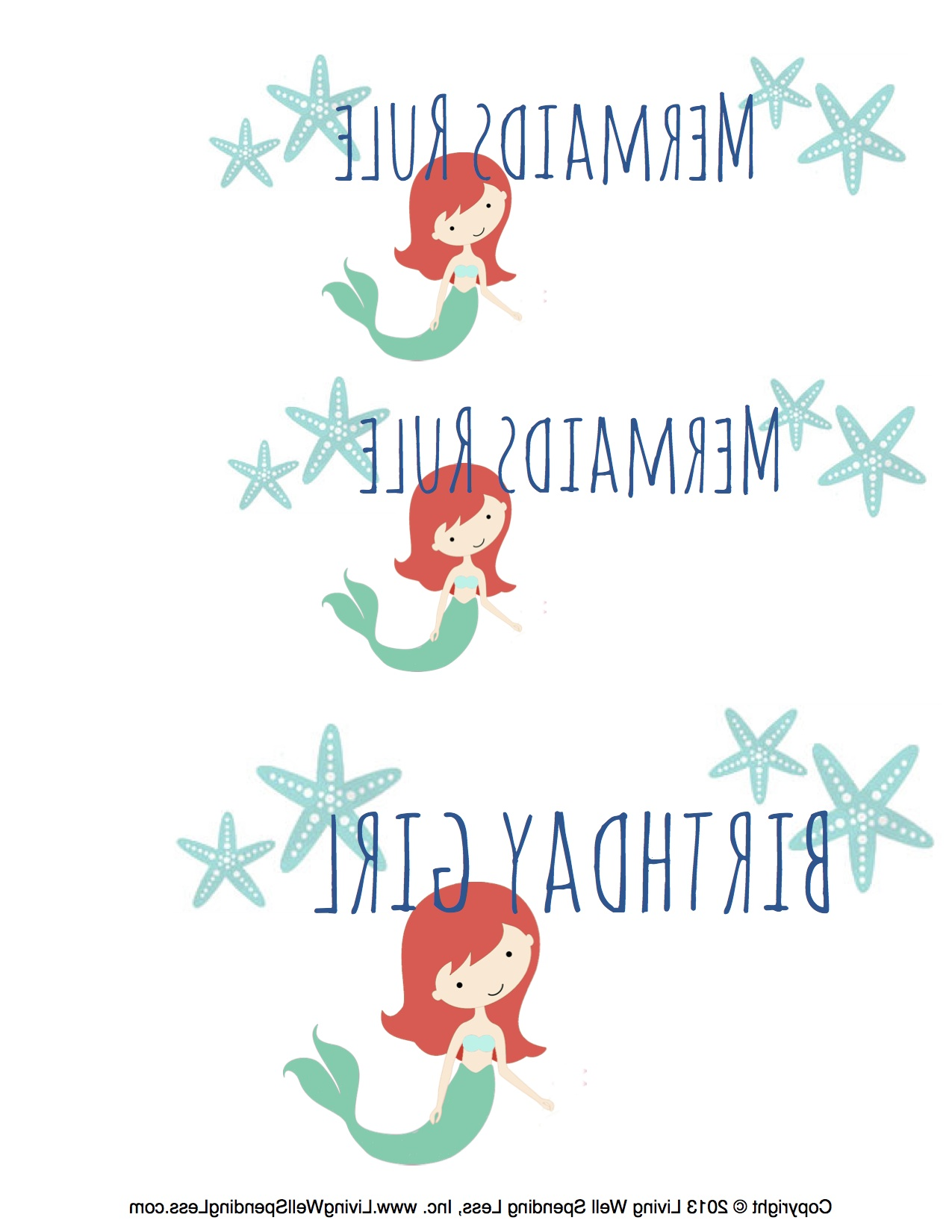 Free Mermaid Printables For Kids Beach Birthday