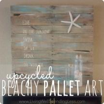 Diy Beach Themed Pallet Art Living Spending