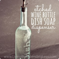 Kitchen Dish Soap Dispenser Tile Home Depot How To Make Easy Diy Etched Glass | Living Well Spending Less®