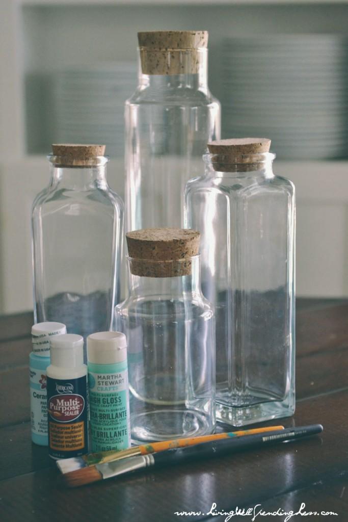 DIY Beach Glass Bottles  Living Well Spending Less