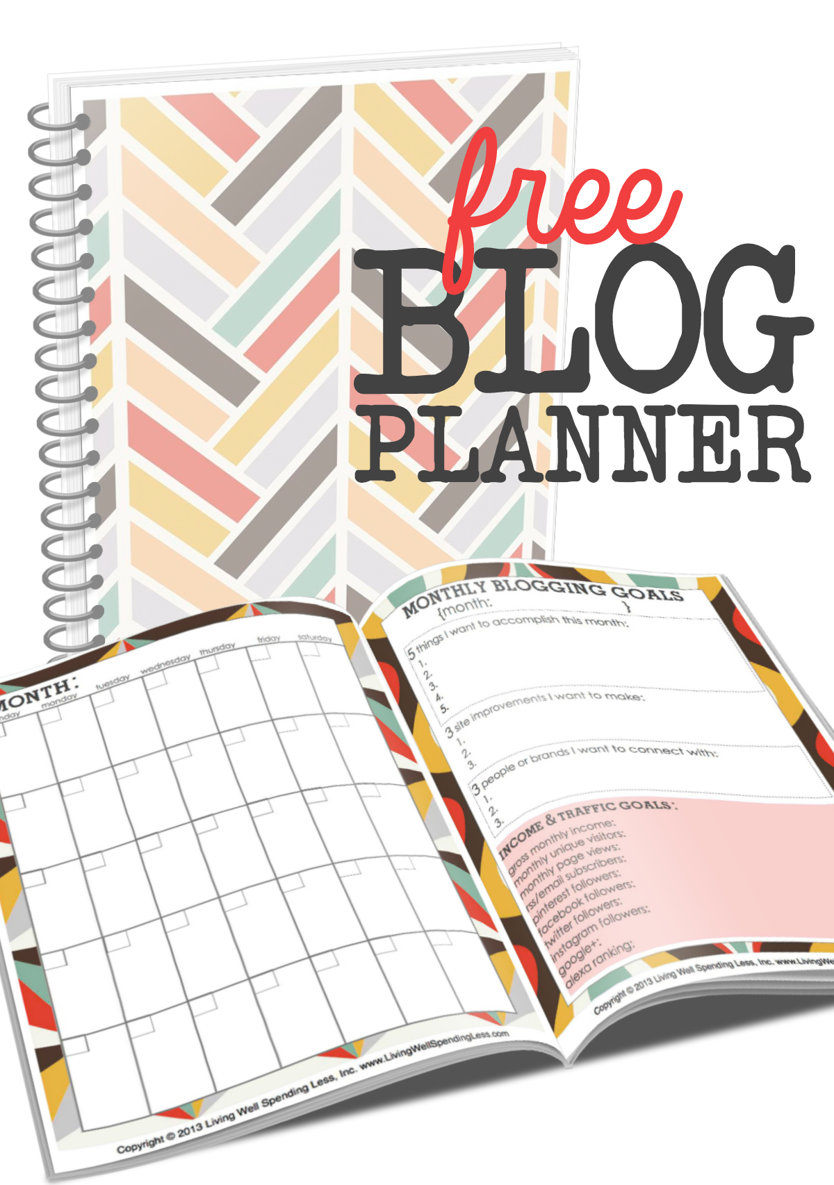 Free Blog Planner Vertical