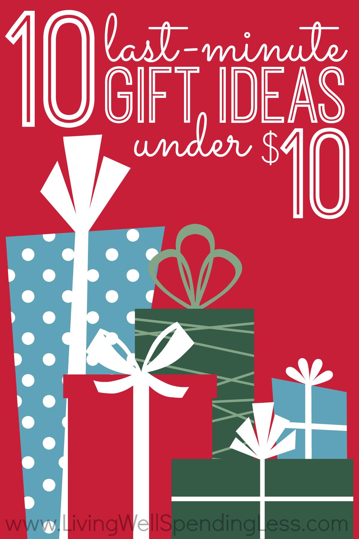 Ten Last Minute T Ideas Under 10