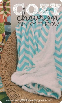 DIY Cozy Chevron Minky Throw | Crafts | Sewing Ideas | DIY ...