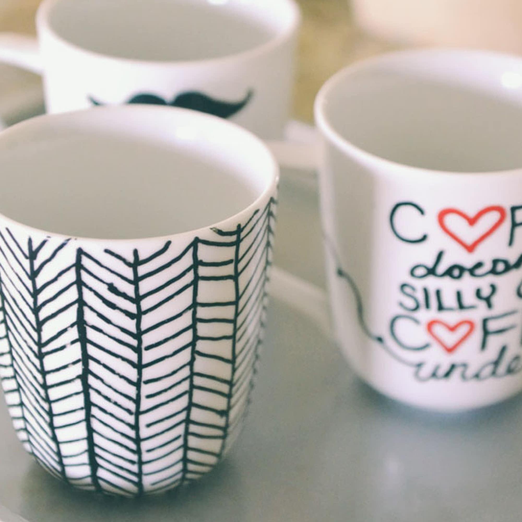 easy diy sharpie mugs