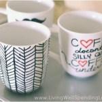 Easy Diy Sharpie Mugs Sharpie Mug Project Diy Mugs